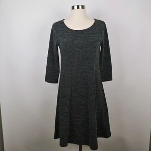 Everly Gray Fit & Flare Knit Dress Size S